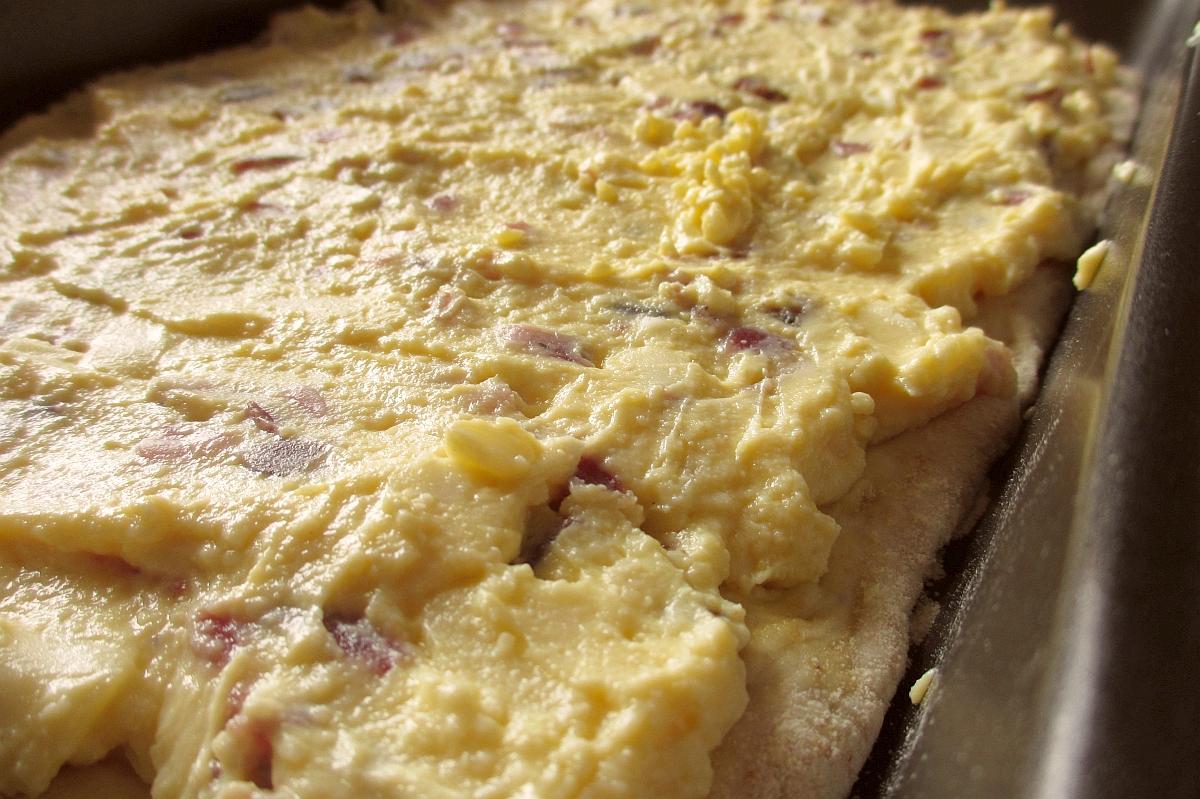 Ingredienti dell'impasto per la Pizza rustica ripiena