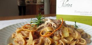 Tagliatelle al Farro Filotea con Salsiccia e crema di fagioli borlotti